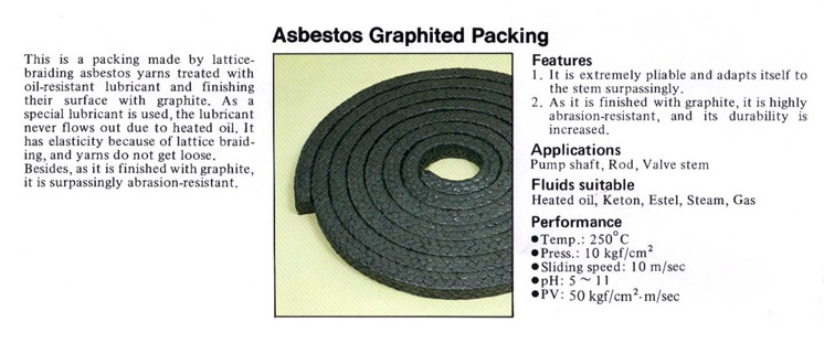 Asbestos Graphite Packing