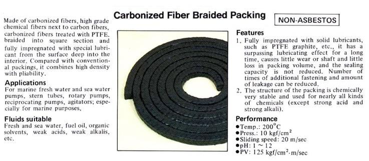 Carbonized Fiber Braided Packing