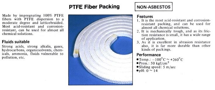 ปะเก็นเชือกเทปล่อน PTFE gland packing